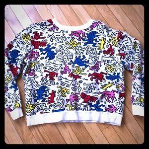 Keith Haring print sweat shirt